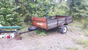 Utility Trailer with canoe rack