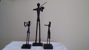 Antique Giacometti style sculptures.