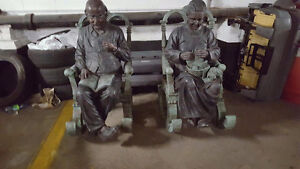 "GRANDMA AND GRANDPA ROCKING CHAIRS 44"" HIGH"
