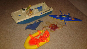 Vintage Fisher Price Sea explorer lot.