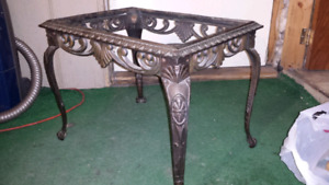 100 year old cast iron table