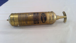 Vintage 1950s Brass Pyrene fire extiguisher