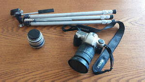Pentax lenses, camera and tripod