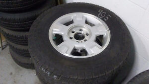 #495 SET OF FORD ALLOY RIMS ON MOTOMASTER TIRES 265/70R17