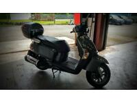 KYMCO LIKE 125 RETRO VESPA SCOOTER NEW TYRES AND MOT RIDES WELL GREAT VALUE