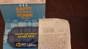 $250 Best Buy Giftcard.