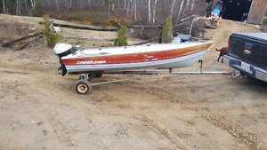 14 ft crestliner aluminum with 9.5 Johnson lightweight outboard