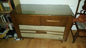 Spectacular vintage Mid-Century modern style stereo cabinet RCA