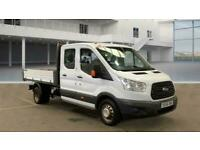 2017 66 FORD TRANSIT DROPSIDE TIPPER DOUBLE CAB / CREW CAB 6 SPEED / 125 TDCI WI