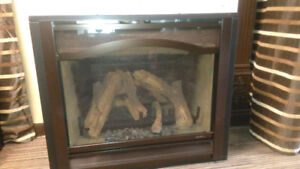 Almost New Gas Fireplace