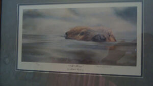 """signed ducks unlimited limited edition print """"at home"""""""