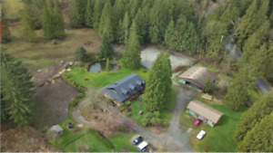 REDUCED!5.2 Acre property w/ LOG home,  Equestrian Center & Barn