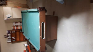 Pool table and cues (needs felt)