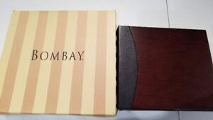 BOMBAY Wood and Leather Photo Album - Brand New