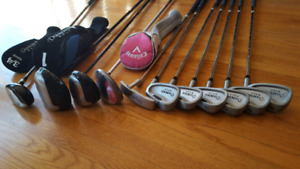 Full golf Set with bag and Sun Mountain speed cart