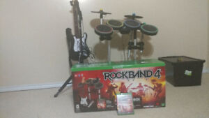 XBox One Rockband 4 band set w/ RB3 Cymbals