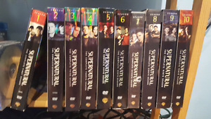 SUPERNATURAL!! FULL SEASONS  FROM 1-10!!! BARELY USED!!!