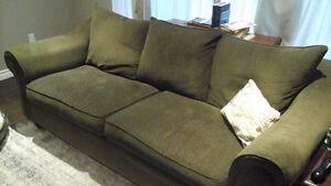Grey/Brown micro suede sofa
