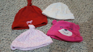 Baby girl hats/mitts and summer bonnets
