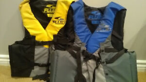 Adult life jackets , slightly used