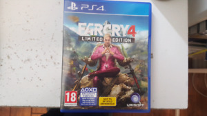SELLING FARCRY 4 LIMITED EDITION  (PS4) FOR CHEAP!!