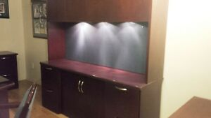Executive U Shaped Desk side cabinet 2 chairs end table $1500 Kitchener / Waterloo Kitchener Area image 2