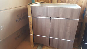 brand new expresso color lower sink cabinet
