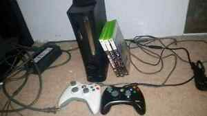 Xbox 360 /w cords & controllers