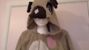 women's cute & fuzzy onesie dog pajama / costume. XL