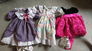 Baby snow suits and dresses