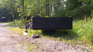 Utility trailer with tall walls