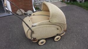 Shmetzer Wicker Baby Carriage