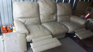 genuine leather couch recliner free delivery