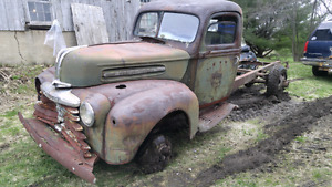 Parting out 1942 merc flat head v8