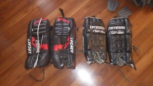 goalie pads...24 and 22