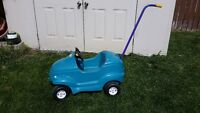 Blue Push Car for Toddlers
