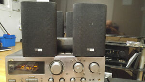 JVC surround sound reciever with 5 speakers for sale!