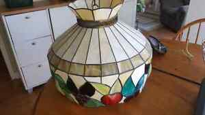 Vintage stained glass kitchen lamp