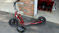 Scooter with front and rear hand brakes, $75 OBO