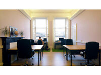 Desks available at creative co-working space at the Shore, Leith