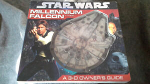 Star Wars Millennium Falcon 3-D owners manual durable book
