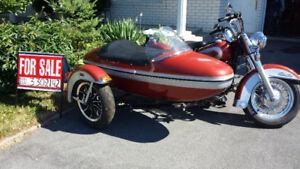 Harley-Davidson Shovelhead Sidecar.