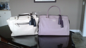 Pebble Leather Coach Bag / Purse  Violet or Taupe