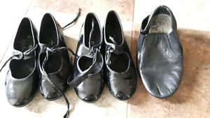 Girls tap shoes and jazz shoes