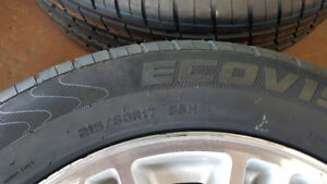 215 / 60R /17 BRAND NEW TIRES COMPLETE SET ON ALLOY RIMS