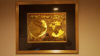 Rustic Framed Map of the World
