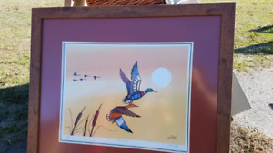 Signed loon print