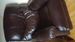 2 Lazboy real leather recliners with warranty