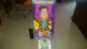 Large Talking Fred Flintstone brand new in box 25 years old.....