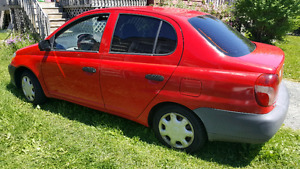 Toyota - Red - Echo - 2002